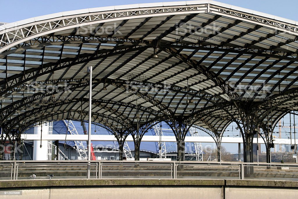 Railroad station Cologne royalty-free stock photo