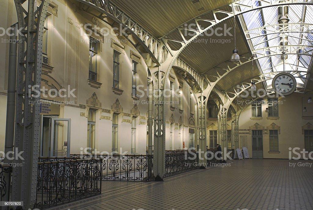 Railroad station hall - 1 royalty-free stock photo