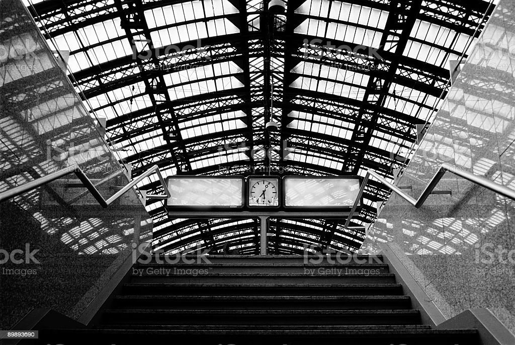 Railroad station royalty-free stock photo