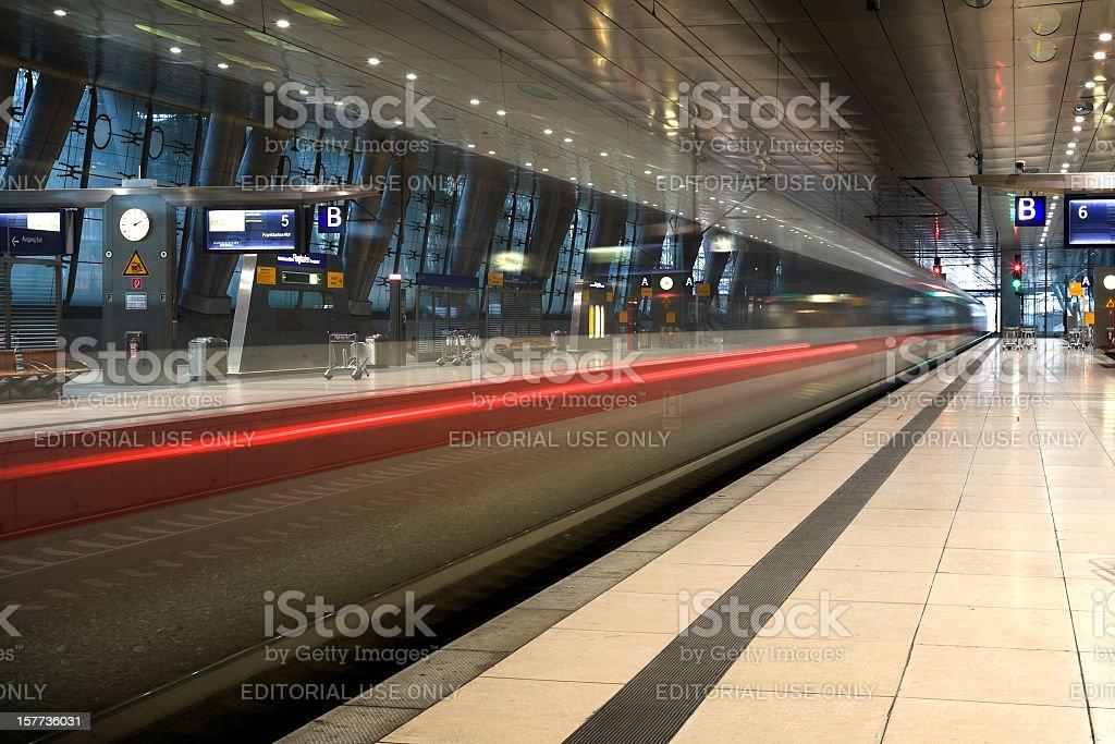 Railroad station platform, Airport Frankfurt