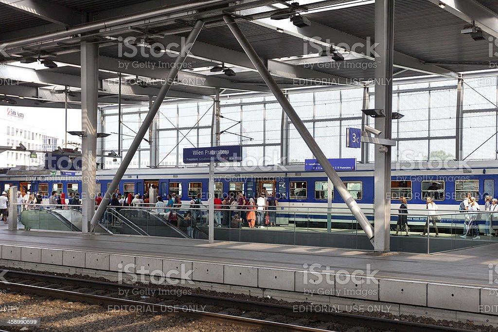 \'Vienna, Austria - September 4, 2012: Railway station Praterstern in...