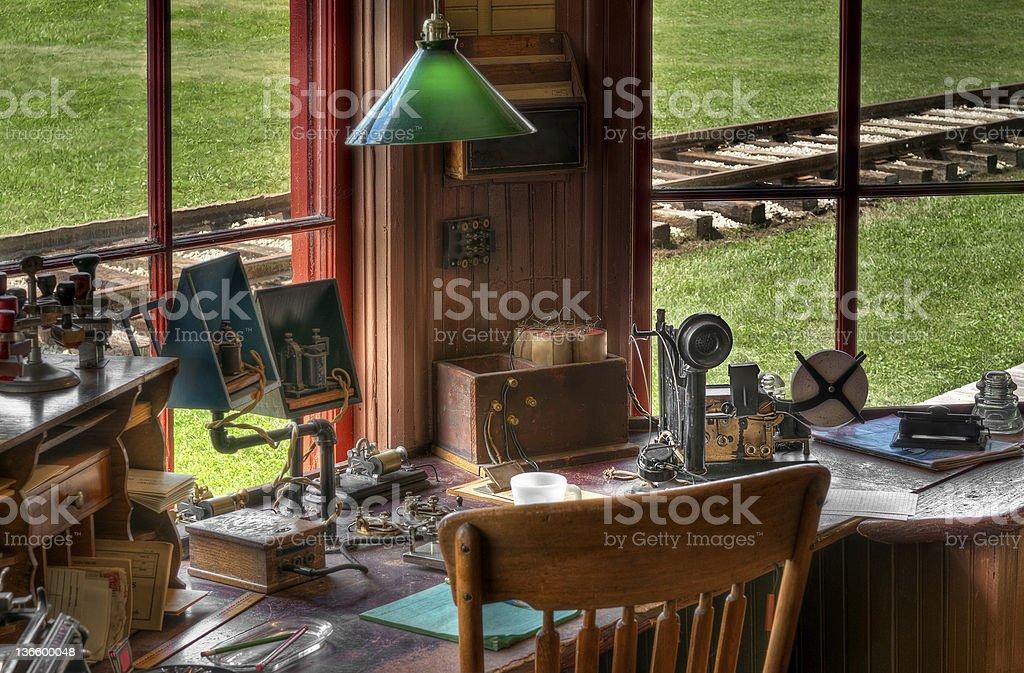 Railroad Station Radio/Telegraph Workspace royalty-free stock photo