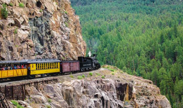 Railroad Steam Engine Train stock photo