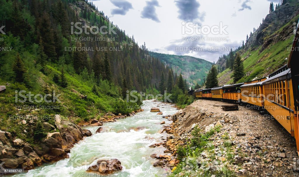 Railroad Steam Engine Train stock photo