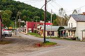 istock Railroad Street leading into Buckingham Street on a late summer day at dusk, Tidioute, Pennsylvania, USA 1174916434