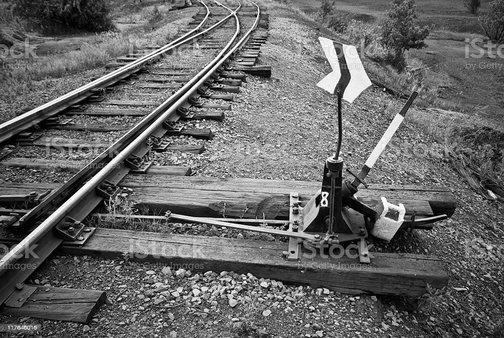 Eisenbahn-switch – Foto