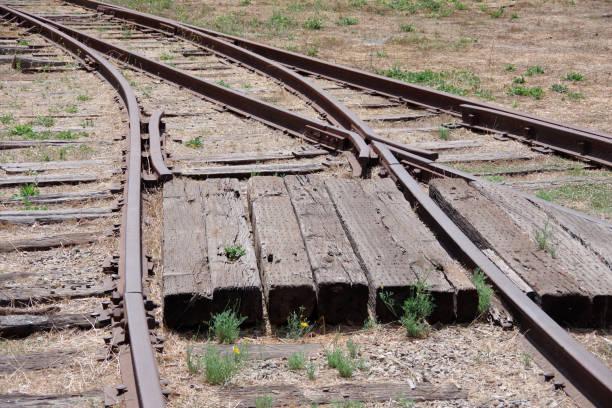 Railroad switch stock photo