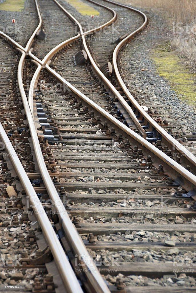 Railroad switch royalty-free stock photo