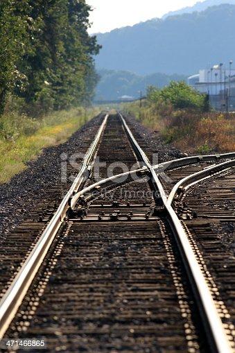 A Railroad switch.