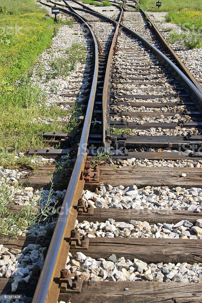 Railroad interrupteur de photo libre de droits