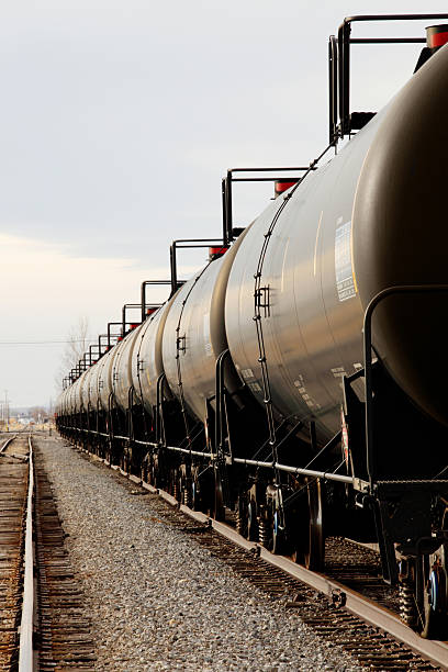Railroad Tankers stock photo