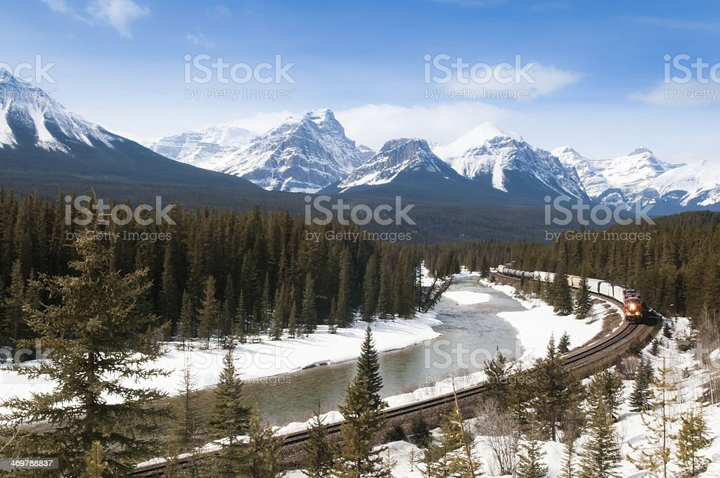 Railroad thru the Mountains stock photo