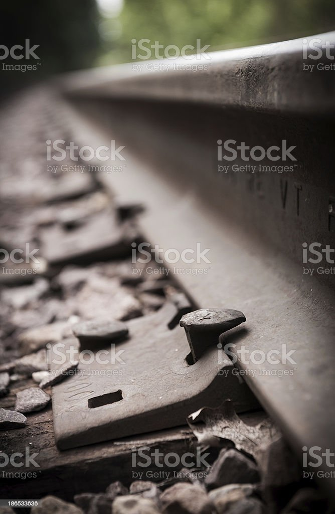 Railroad tie stock photo