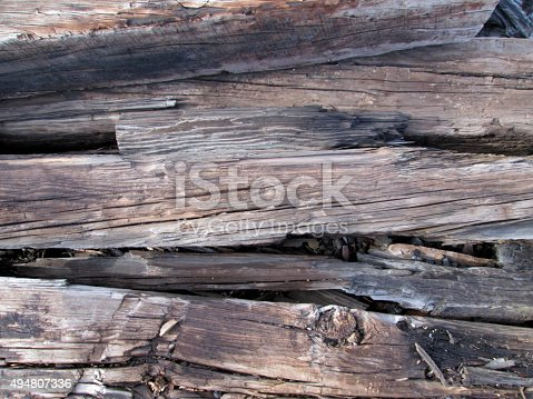 Background image of old railroad ties stacked randomly