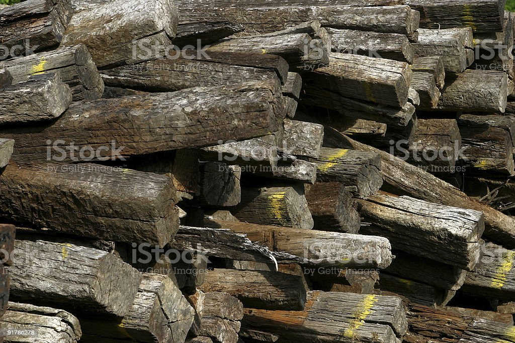 Railroad Ties royalty-free stock photo