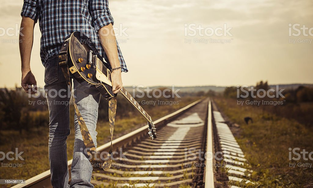 railroad to horizon stock photo