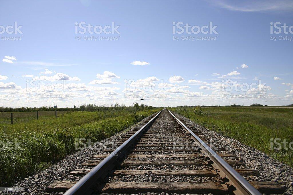 Railroad to nowhere royalty-free stock photo