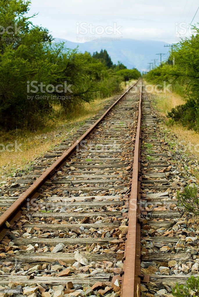 Railroad track 1 royalty-free stock photo