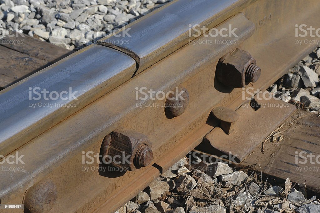 Railroad track - detail royalty-free stock photo