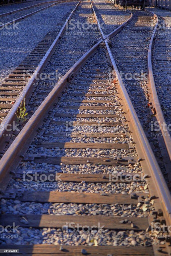 Eisenbahn Spur Gabel Lizenzfreies stock-foto