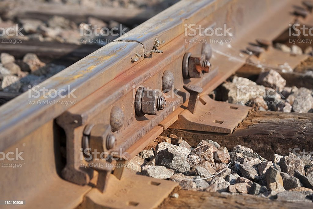 Railroad Track Parts royalty-free stock photo