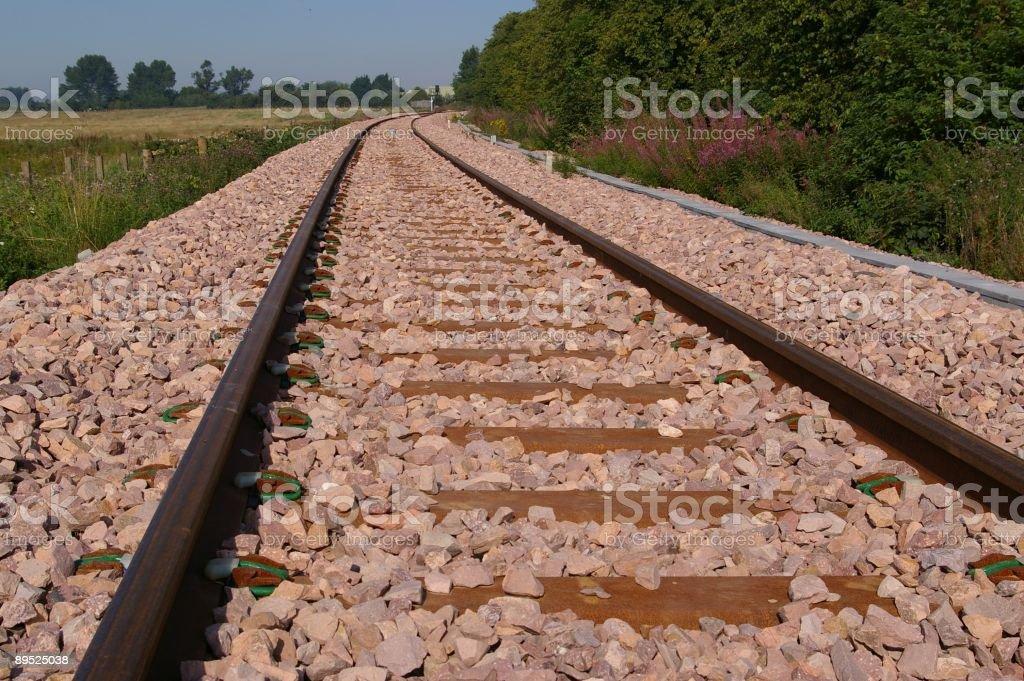Railroad track Lizenzfreies stock-foto