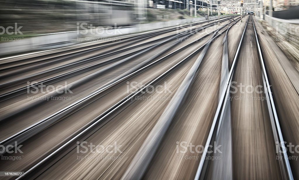 railroad tracks and junctions stock photo