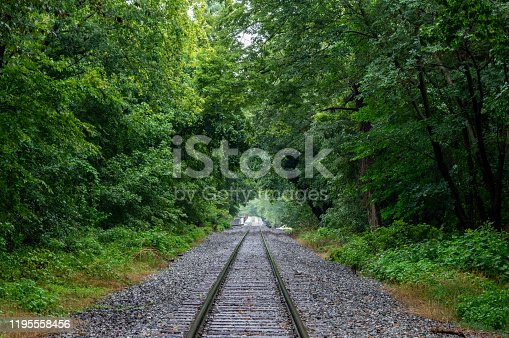 istock Railroad Tracks at Harpers Ferry in West Virginia 1195558456