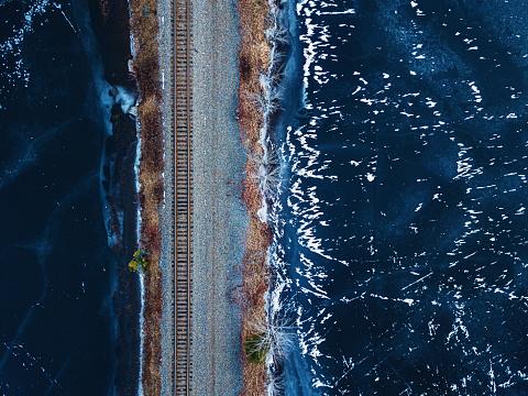 Railroad Tracks Below