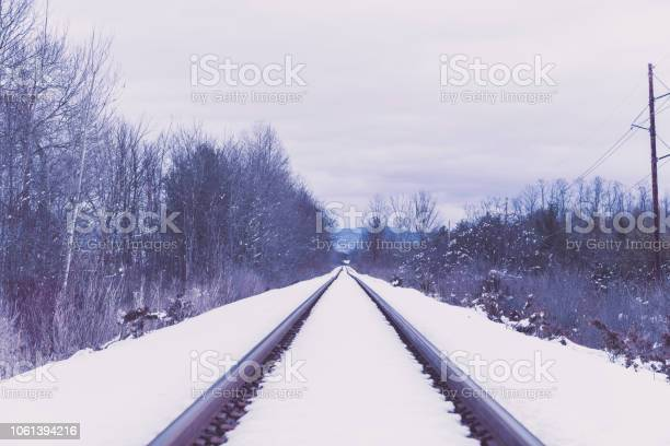 Photo of Railroad Tracks during Winter