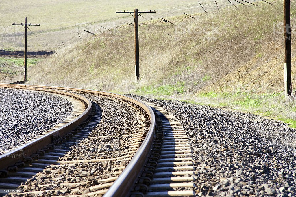 Railroad Tracks in the Country royalty-free stock photo