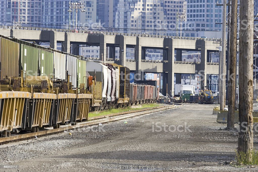Railroad tracks Industrial District royalty-free stock photo