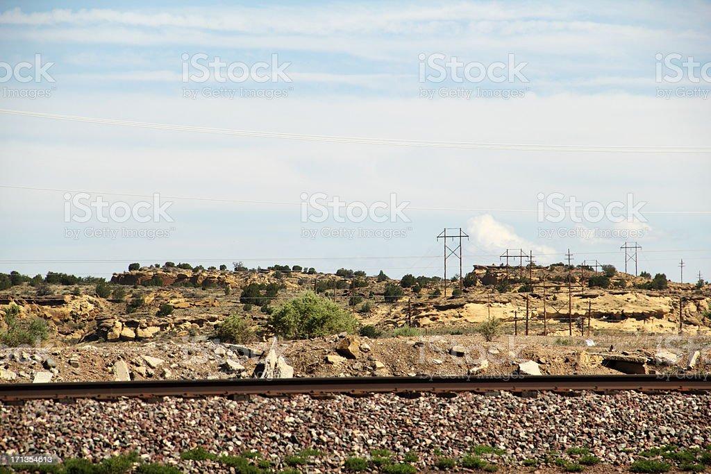 Railroad Tracks Route 66 stock photo