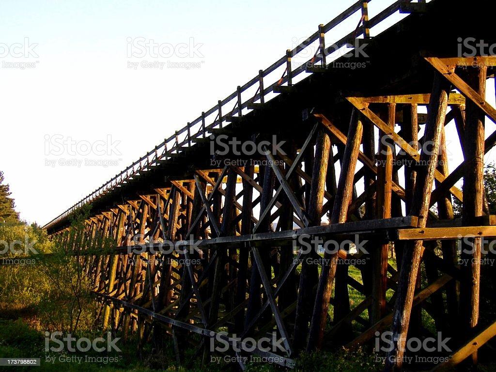 Railroad tressle #1 royalty-free stock photo