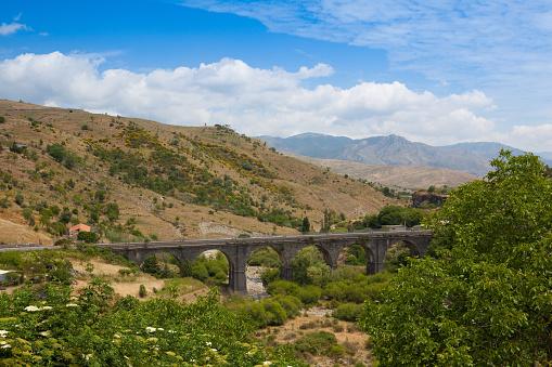 Railroad Viaduct In Randazzo Sicily Stock Photo - Download Image Now