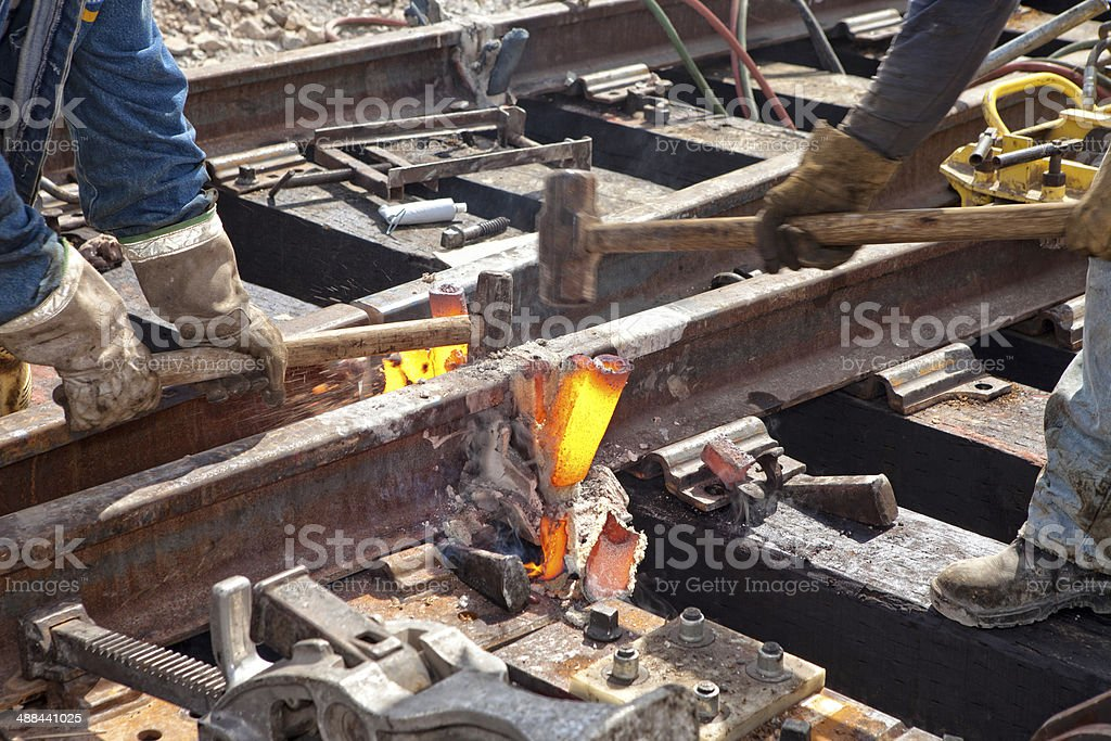 Railroad Welding stock photo
