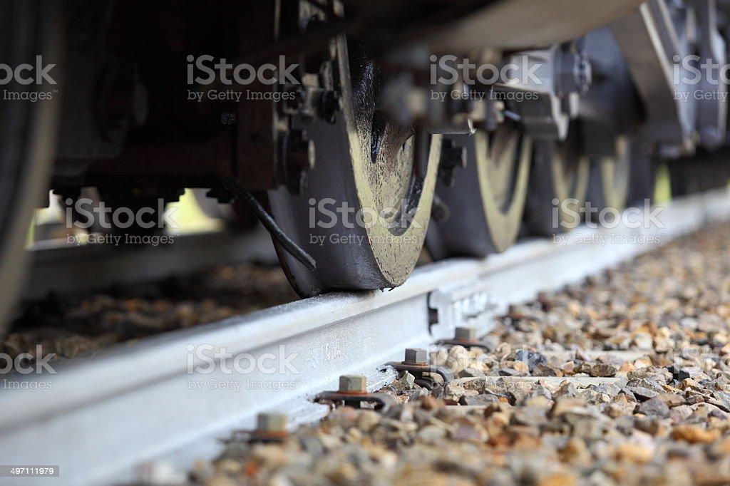 Railroad Wheels - Royaltyfri Del på fordon Bildbanksbilder