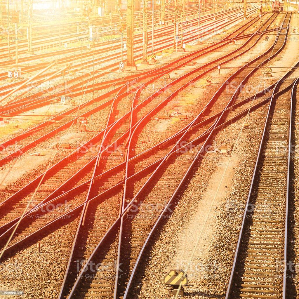 Railroads stock photo