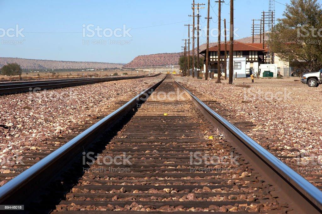 rails royalty-free stock photo
