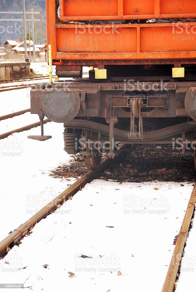 Railtracks in Snow royalty-free stock photo