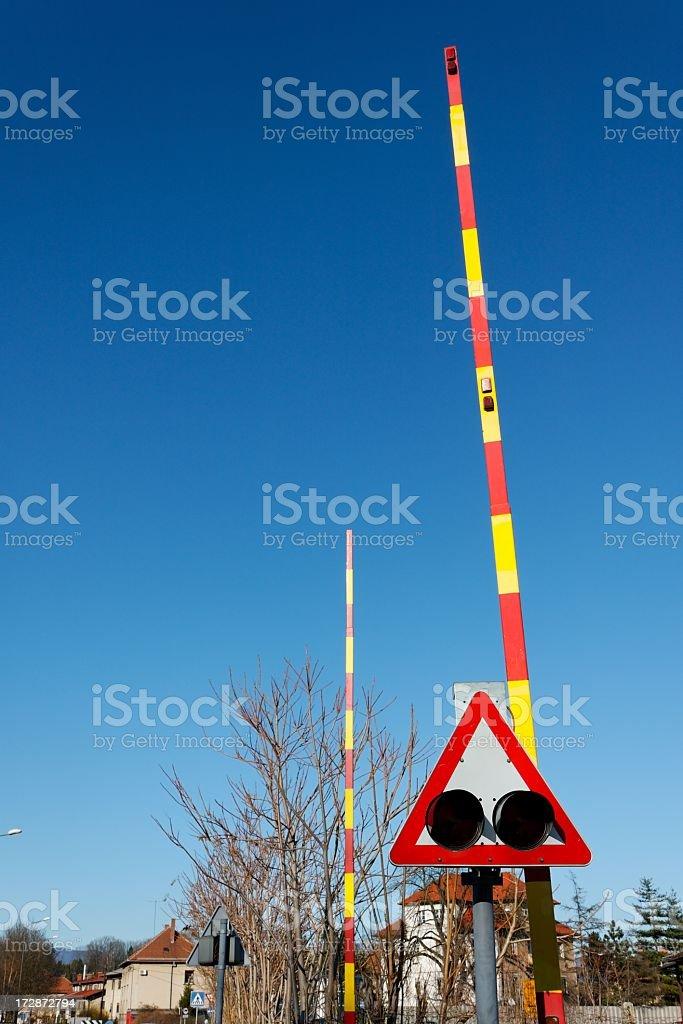 Railway Barrier stock photo