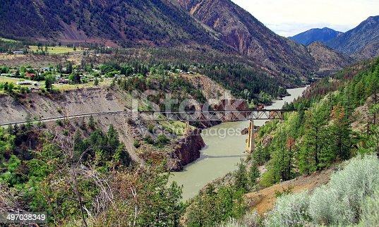 istock Railway bridge in the mountains 497038349