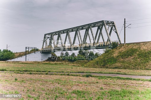Railway bridge over the railway line, Opole Voivodeship