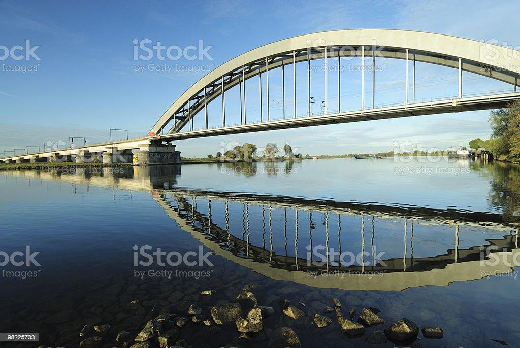 Railway bridge over the river Lek royalty-free stock photo