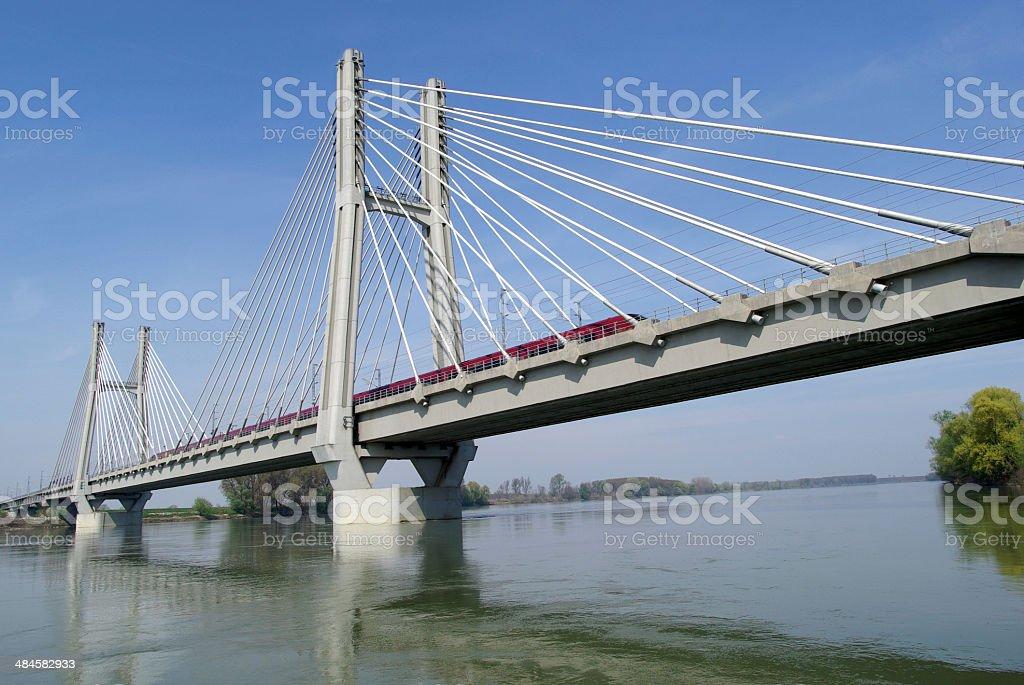 Railway bridge stock photo