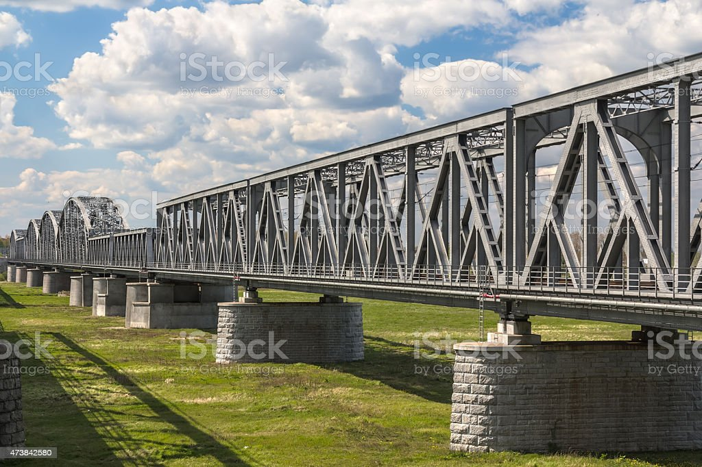 Railway Bridge, Tczew, Poland stock photo