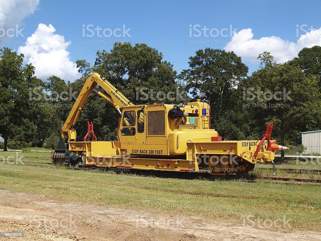 Railway Brush Cutter royalty-free stock photo