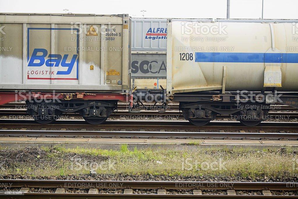 Railway cargo transport royalty-free stock photo