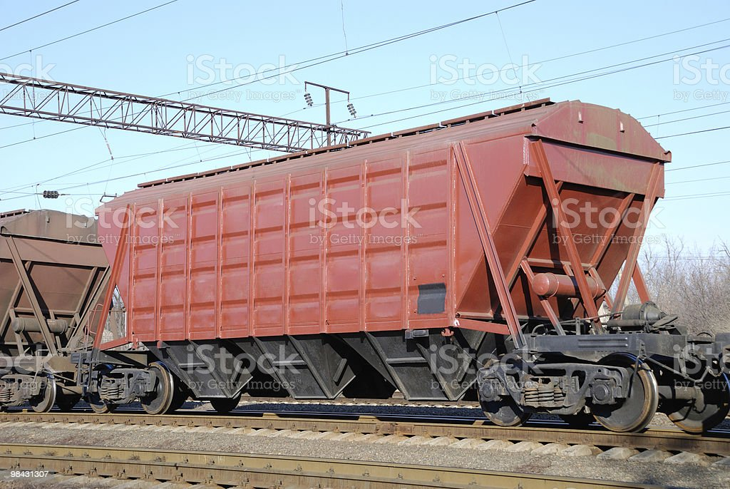 Railway cars for various cargoes royalty-free stock photo