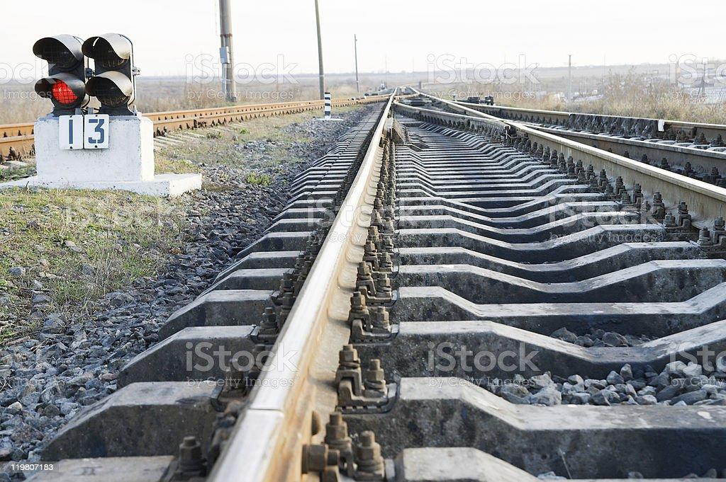 railway closeup royalty-free stock photo